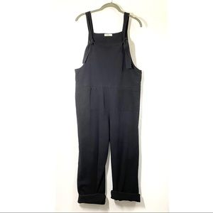 Anself Cotton Jumpsuit with Pockets Black S